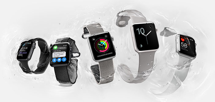 Apple Watch Series 2. GPS integrado, resistente al agua hasta 50 metros.1 Nuevo procesador ultrarrápido de doble núcleo.