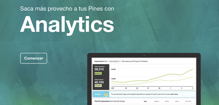 And Pinterest makes it easy, because it has one of the native tools for more powerful information online world: Pinterest Analytics.