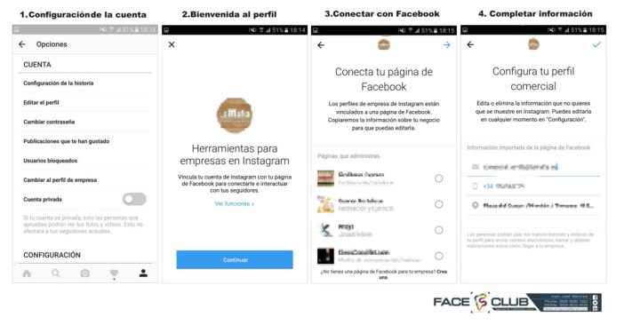 How to activate a company profile on Instagram for restaurants?