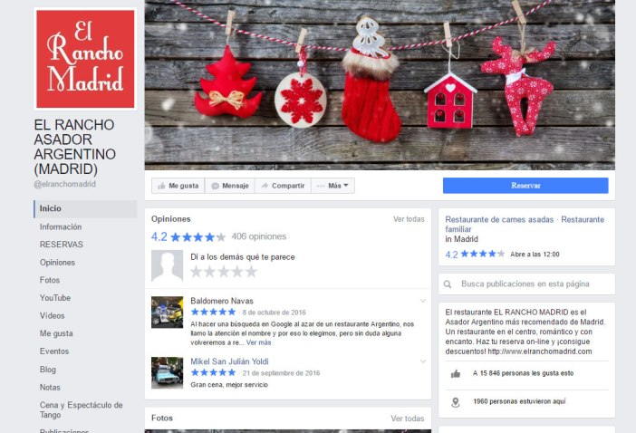 "The fanpage is your showcase to the public. If the ""physical"" you care to the smallest detail Why not in the virtual? It goes without ever change your cover photo using some creativity Christmas, wishing the best to your clients at this time or reporting that have special menus."