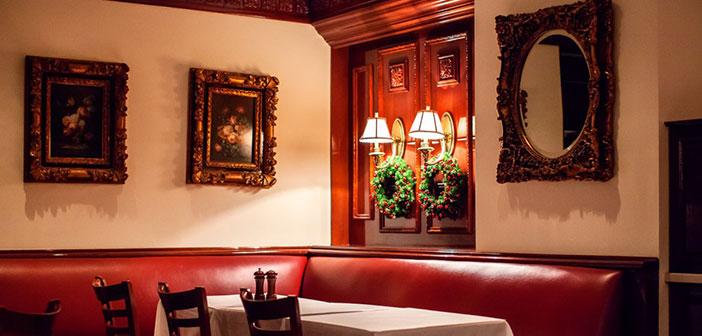 Inside the restaurant Trump Grill.