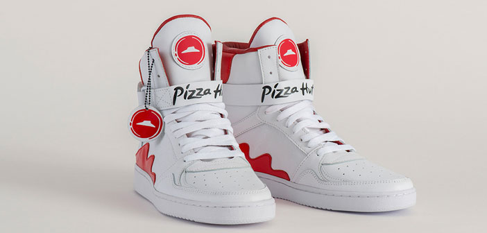 Pizza Hut created the first shoes that carry the pizza directly from your feet up to your mouth.