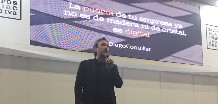 Diego Coquillat in his lecture at XocoArt 2017 In colombia