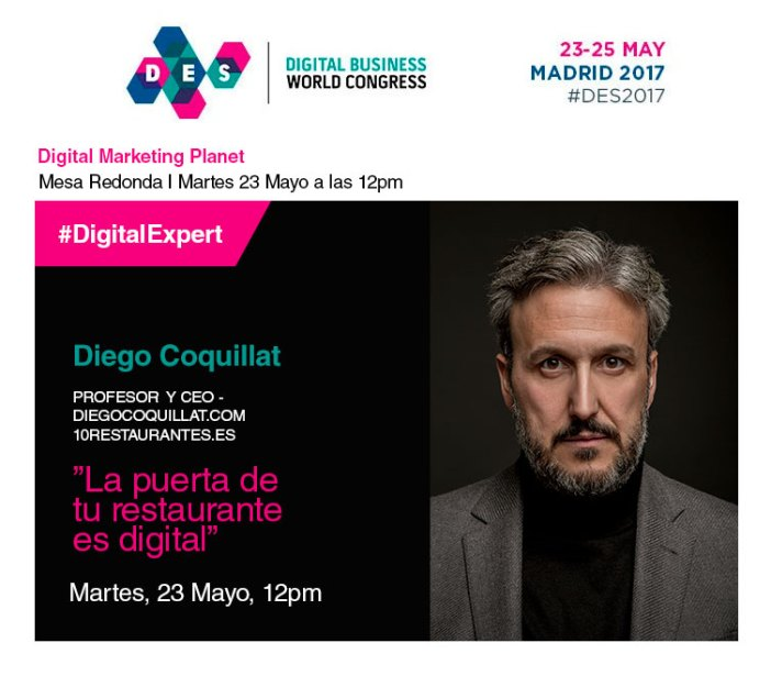 our CEO, Diego Coquillat participates day 23 within the Digital Marketing Summit Planet at a round table along with other prominent names in the industry and where they talk about the digital transformation in the restaurant industry.