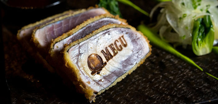 In the Dream Hotel, New York also, the re-opened Megu offers Katsu tuna slices that have been marked with a hot iron form of the name and logo Restaurant.