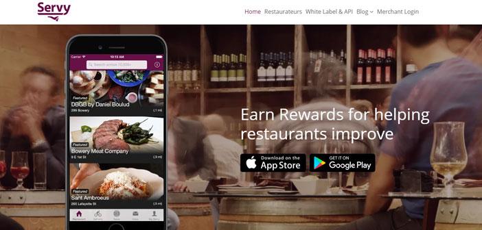 Aussi intéressant que ce qui précède est Servy, une application de succès remarquable à New York et dans lequel Enrollees commentaires a valeur constante le service qu'ils offrent restaurants.