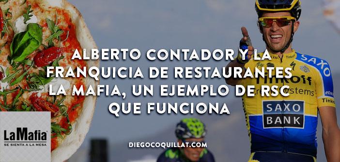 Alberto Contador y la franquicia de restaurantes La Mafia, un ejemplo de RSC que funciona