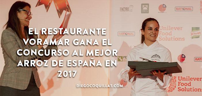 El Restaurante Voramar gana el concurso al mejor arroz de España en 2017