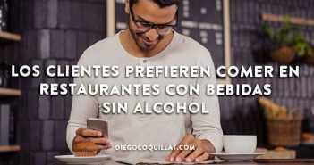 Los clientes prefieren comer en restaurantes con bebidas sin alcohol