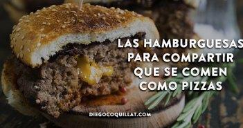 Las hamburguesas para compartir que se comen como las pizzas, ¿una nueva tendencia?