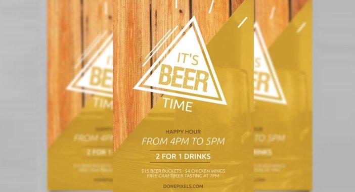 Beer-Time-Free-Flyer-modèle