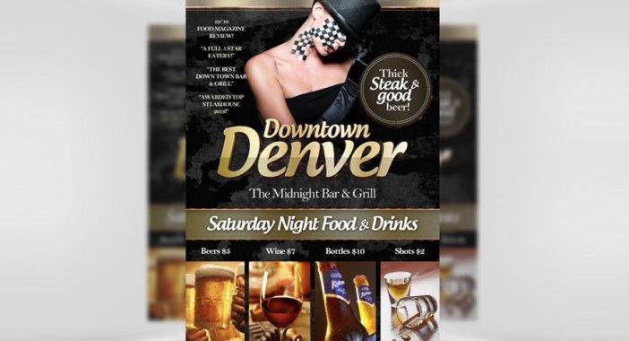 Downtown-Denver-Free-Bar-Flyer-modèle