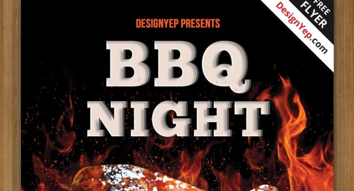 Free-barbecue-nuit-Flyer-PSD-modèle