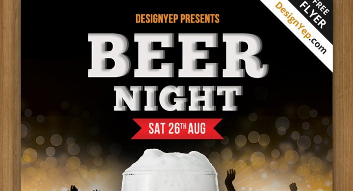 Free-Beer-Night-Flyer-PSD-modèle