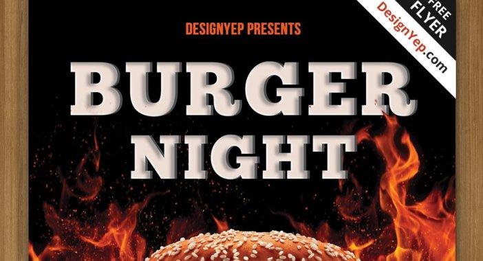 Free-Burger-Night-Flyer-PSD-Template
