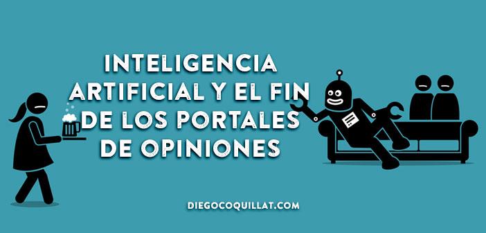 La inteligencia artificial puede suponer el fin de los portales de opiniones sobre restaurantes