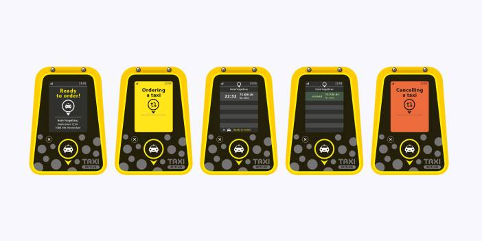 MyTaxi and HORECA agency specializing in canal, Aplus Gastromarketing, Taxi present Butler, a new device to order taxis in restaurants quickly and intuitively.