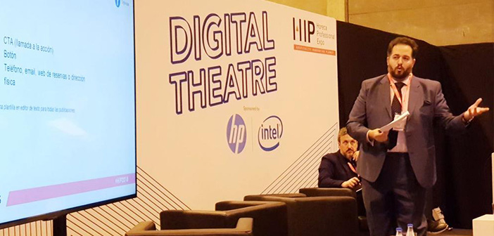 Sanchez also participated in # ExpoHip2018. It was part of #TeatroDigital who led @diegocoquillat during the three days of this great event # Innovation Horeca sector in Madrid.