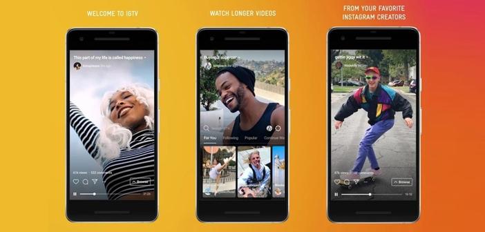 IGTV nace con idea de ser competencia de Youtube y Snapchat. IGTV es una aplicación independiente, pero también una opción que se puede usar dentro de la plataforma de Instagram.