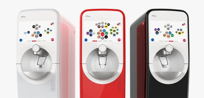 This new model will come equipped standard with a Bluetooth connection that allow the dispenser and the customer's mobile phone to communicate. For what? Well, neither more nor less than to make the dispensed beverage is customized to suit the diner in question.