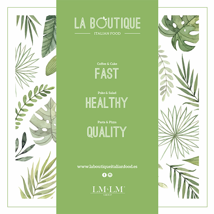 La Boutique Italian Food nace como un concepto Fast Casual Restaurant, donde se puede saborear de una variada propuesta gastronómica, saludable, de una manera rápida y con un especial servicio.