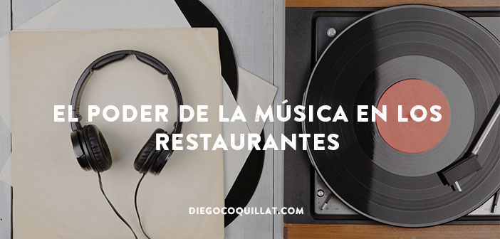 It is increasingly common to see restaurants choosing the music and songs that sound in your local accompanying the dining experience