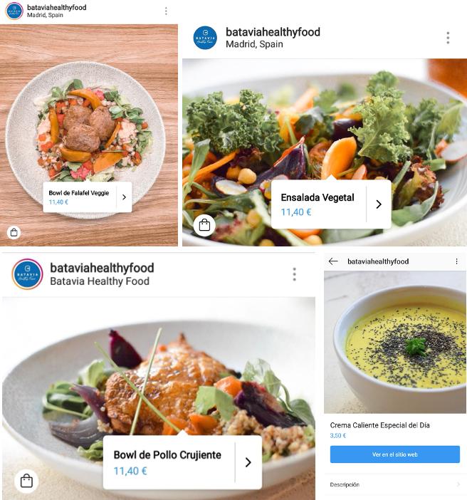 """Se podría utilizar para un restaurante, como puede ser el caso del restaurante """"Batavia"""", que ha incorporado esta nueva función en sus publicaciones para vender vía tienda online todos sus platos."""