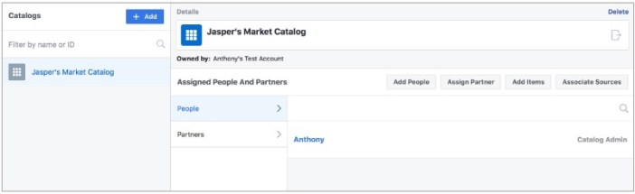 Manage catalogs from Business Manager