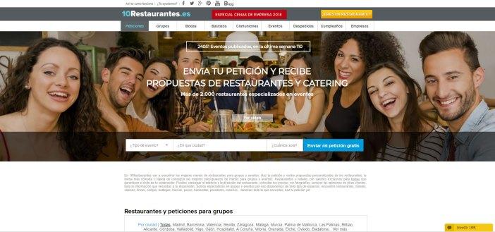 Vous pouvez accéder au Web 10Restaurantes.com, spécialisée dans les restaurants pour les groupes et événements; mariage, baptêmes, communions, scène d'affaires, etc., faire votre demande, recevoir restaurants proposition et de parler directement avec eux à travers cette application sur les besoins de votre événement. C'est facile, Rapide et gratuit.