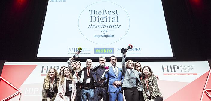Quique Dacosta, Starbucks en Espagne et au restaurant Silk & Soy de Madrid ont été les lauréats des prix Les meilleurs restaurants numériques 2018 le meilleur chef ou cuisinier numérique, la meilleure chaîne, restaurants de groupe ou de franchise et le meilleur restaurant indépendant numérique, respectivement.