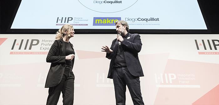 Eva Ballarin y Diego Coquillat en los premios TheBestDigitalRestaurant 2018.