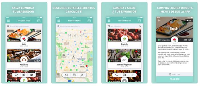 Maintenant Too Good to Go est disponible en Espagne. Son arrivée a été récemment, Madrid a commencé à fonctionner le 16 de septembre, et Barcelone a fait la même 13 novembre. Actuellement, il y a encore quelques endroits où vous pouvez profiter de l'application, Mais en un mois d'exploitation sur notre territoire a rencontré 25 000 utilisateurs.