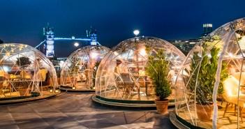 """Los """"iglús"""" para restaurantes hacen rentables las terrazas en invierno"""