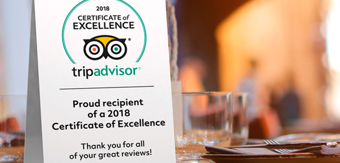 "Place cards or warnings about the presence restaurant TripAdvisor. Apart from the door sticker ""Evaluated TripAdvisor 'page offered by restaurant reviews, other alternatives that work well is placing cards on tables or posters or framed Certificate of Excellence, if it has achieved one."