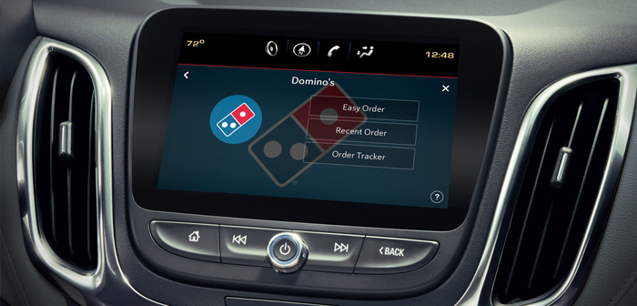 A similar case is that of Ford SYNC AppLink. With this system drivers can make your pizza order while still in transit. With a little skill this integration can be used for pizza at the door of our home as soon as we leave the car parked.