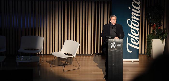 Diego Coquillat durante su conferencia en el Basque Culinary Center