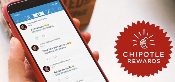 Chipotle Rewards: the new mobile app Chipotle with customer loyalty program integrated Chipotle Rewards, the customer loyalty program by ultrapersonalización