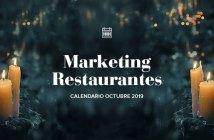Octubre de 2019: calendario de acciones de marketing para restaurantes