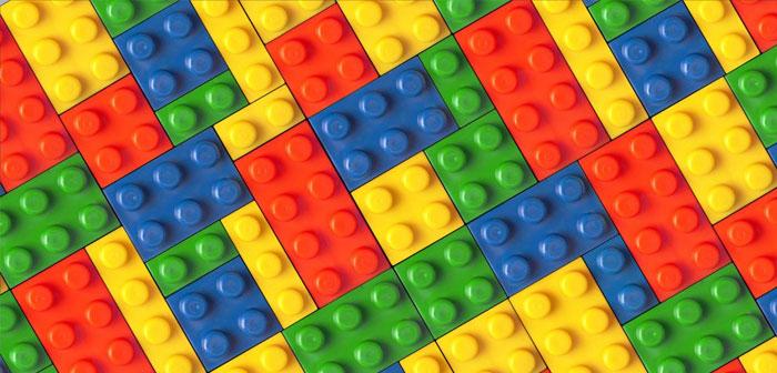 blocs Lego ont été utilisés pour créer une structure comestible
