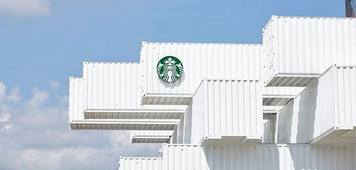 The new Starbucks bet is sustainable architecture with intermodal containers