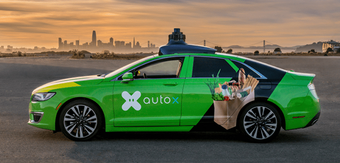 AutoX, autonomous cars based on artificial intelligence for home delivery restaurants
