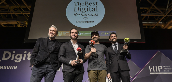 The chef Mario Sandoval, the restaurant chain Goiko Grill and restauranten El Pimpi Malaga winners of the second edition of the TheBestDigitalRestaurants