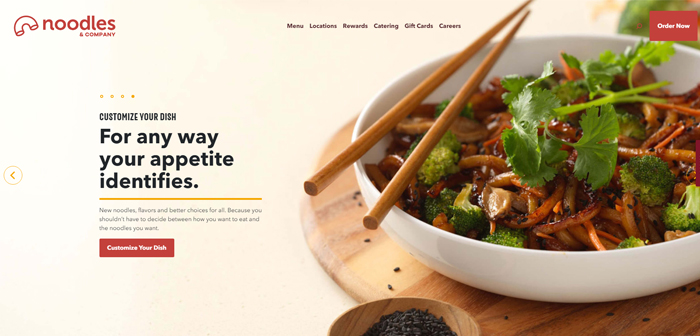 Among the houses mentioned include Noodles & Company, one settled EE chain. THE. specializing in noodle dishes from around the world, pasta, salads and soups international.