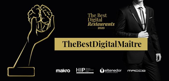 Nuevo premio al mejor Maître o Jefe de Sala Digital en los The Best Digital Restaurants 2020