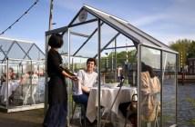 Invernaderos personales, el último invento de un restaurante de Amsterdam para garantizar la seguridad de sus clientes