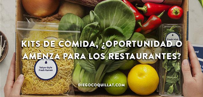 Kits de comida, ¿oportunidad o amenza para los restaurantes? kits alimentaires, Opportunité ou menace pour les restaurants?