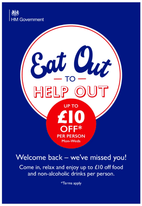 "Campaña ""Eat out to help out"""