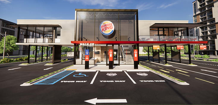 Burger King is now ahead of all its competitors in the fast food segment by launching two avant-garde designs that will greatly reduce your space requirements.