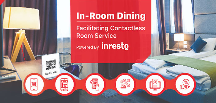 Through the application they will be able to request that the room service take the food orders to the desired suite without there being contact between the end user and the waitress or delivery staff.