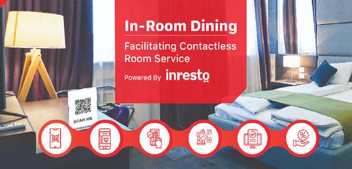 Grâce à l'application, ils pourront demander au service d'étage de prendre les commandes de nourriture dans la suite souhaitée sans qu'il y ait de contact entre l'utilisateur final et la serveuse ou le livreur..